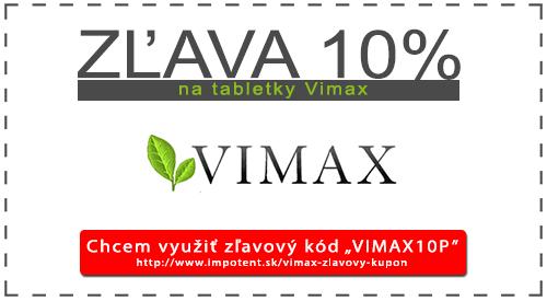 Znížená cena na tablety VIMAX v podobe zľavového kupónu