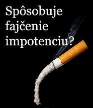 Vplyv fajčenia na vznik porúch erekcie