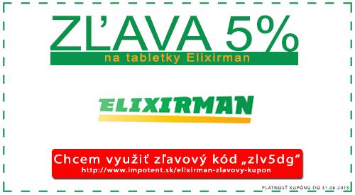 Zľavový kupón na tabletky Elixirman