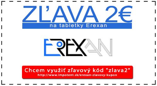 Zľava 2€ na tabletky Erexan