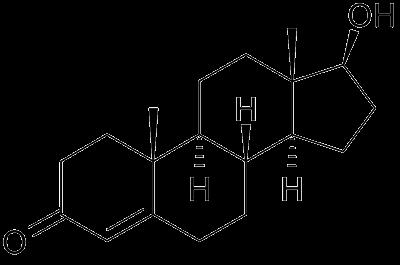 Testosterón - chemický vzorec