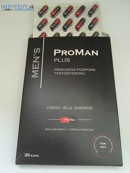 ProMan Plus sa vyrába v podobe kapsúl