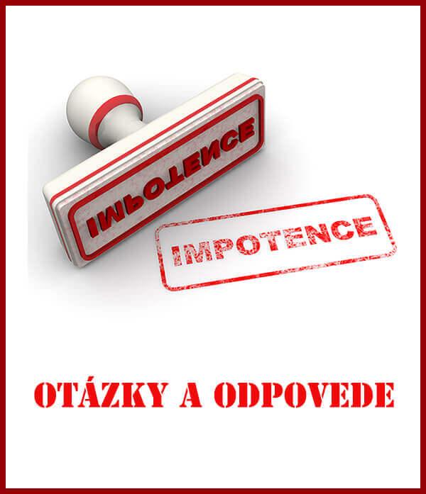 Impotencia - časté otázky a odpovede