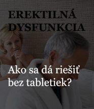 Liečba impotencie bez tabletiek